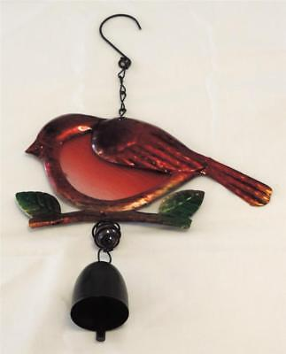 Red Bird Aluminum Windchime with Bell