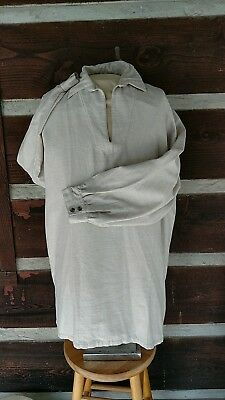 linen longhunter shirt 18th century size  4 x large