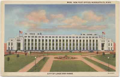 New Post Office - Minneapolis, Minnesota MN - Vintage Linen Postcard