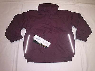 CLEARANCE NEW REGATTA KIDS DOVER JACKET. BURGUNDY x 22. N12