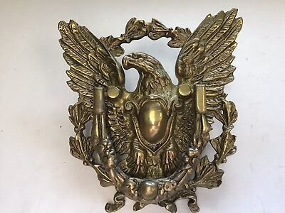 Large Antique Brass American Eagle Door Knocker Federal Classical Vintage Bronze