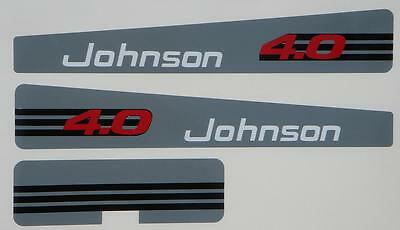 Johnson Outboard Decals 4 hp 1993