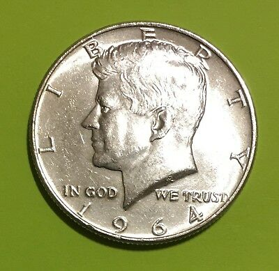 1964 Kennedy SILVER Half Dollar, Choice BU, Blast White