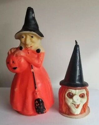 Vintage Gurley Halloween Witch Candle Lot w/ Tags
