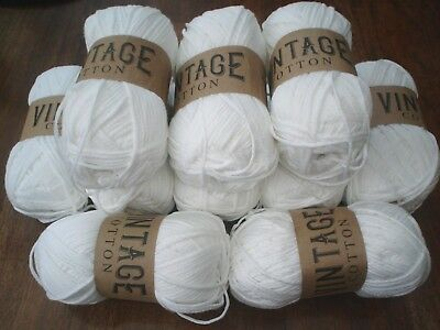 super Soft 100%   cotton double knitting yarn bright white  15 x 100g  @LOOK@