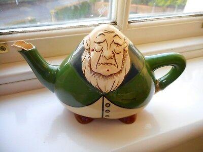 Wileman Early Shelley ~ Walter Slater  Intarsio Teapot Depicting ~ Paul Kruger