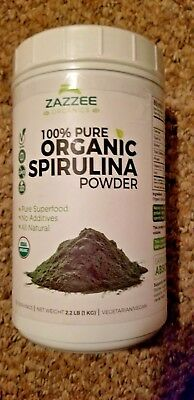 Organic Spirulina Powder 2.2 Pounds (1 KG) 100% Pure Non-GMO USDA Non-Irradiated