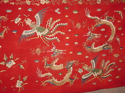 FABULOUS ANTIQUE 19th century CHINESE EMBROIDED AND GOLDBROCADE CLOTH  ***HG**