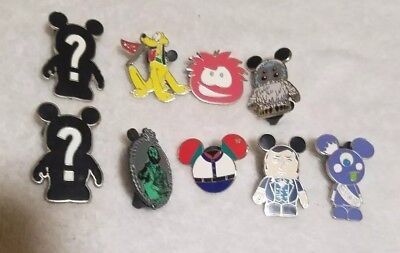 Lot of 9 Disney Trading Pins Goofy 2010 Mickey Shapes Tomato And More