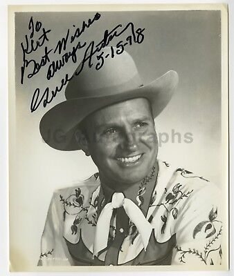 Gene Autry - Vintage Autographed Western 8x10 Inscribed and Dated 1978