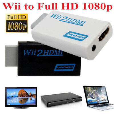1080P Wii to HDMI Output HDTV Converter Upscaling Video Audio Adapter 3.5mm
