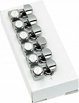 Genuine Fender Staggered Height Locking Guitar Tuning Machines - Chrome