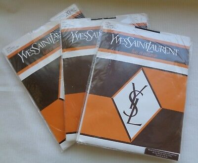 3 pairs Yves Saint Laurent pantyhose with seams and beaded motifs