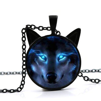 New Nordic Wiccan Wolf Necklace Wiccan Cat Wolf Pendant Jewelry Necklace black
