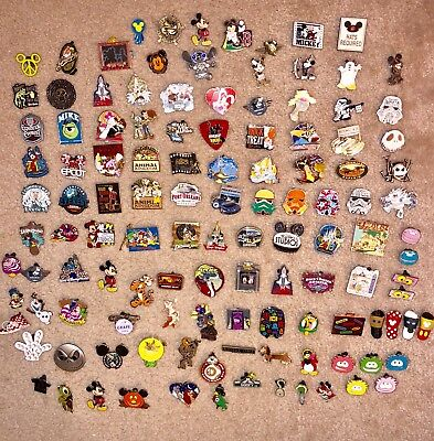 Disney World TRADING PINS Collection HUGE LOT of 121