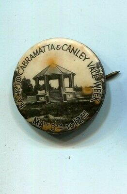 tinplate badge  Back to Cabramatta & Canley Valley