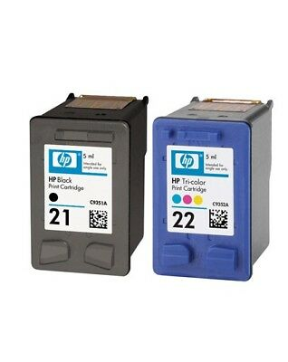 HP 21 22 Combo Ink Cartridges NEW GENUINE