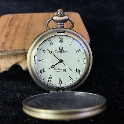Rare Antique Old Collectible Copper Handwork Manual Mechanical pocket watch