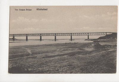 The Ganges Bridge Allahabad India Vintage Postcard 216b