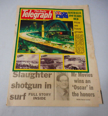 #t117.  The Daily Telegraph Cover - 26 January 1987, Australia 199 Years Old