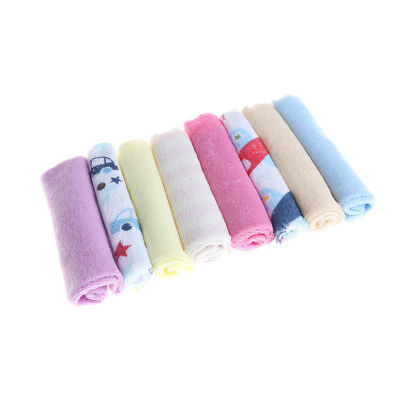 8pcs/Pack Baby Newborn Face Washers Hand Towel Cotton Feeding Wipe Wash Cloth US