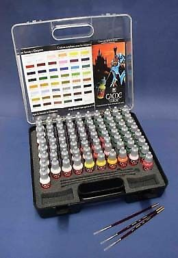 Vallejo Acrylic Paints 72172 Game Color Paint Set in Plastic Storage Case