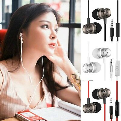 HIFI Super Bass Headset 3.5mm In-Ear Earphone Stereo Earbuds Headphone Wired FH