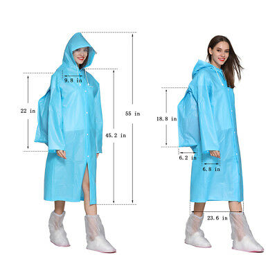 Rain Poncho for Women, Environmentally Friendly Reusable Raincoats with Bag Cove