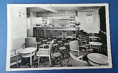 Jersey Channel Island Postcard Cocktail Bar Royal Hotel Real Photo Card 1957