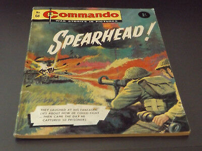Commando War Comic Number 68 !!,1963 Issue,good For Age,55 Years Old,very Rare.