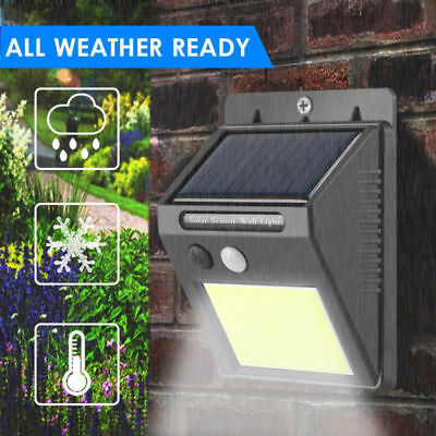 48LED Solar Powered PIR Motion Sensor Wall Security Light Garden Outdoor Lamp UK