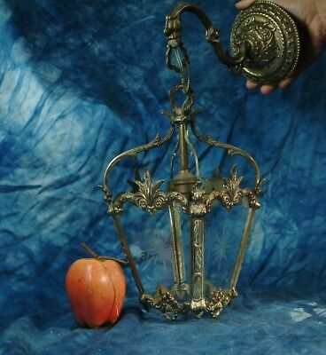 Vintage French  Bronze  Lantern Light  Hall Living  Room . Very Pretty  .