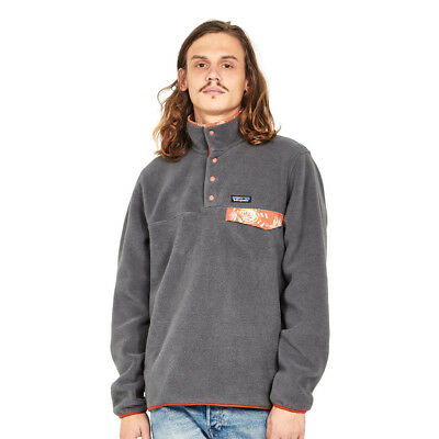 Patagonia - Lightweight Synchilla Snap-T Pullover - EU Fit Forge Grey Rundhals