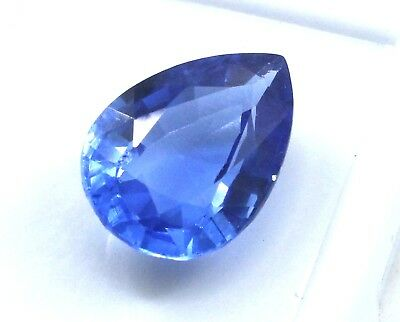 7.90 Ct Natural Pear Cut Transparent Ocean Blue Aquamarine Gem GGL Certified