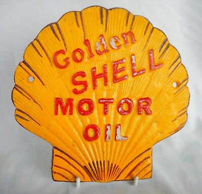 Retro Shell Motor Oil Advertising Wall Plaque - Good Size For The Man-Cave