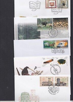 Estonia 2010 2011 2013 2014 2017 Europa books forests music castles post van FDC