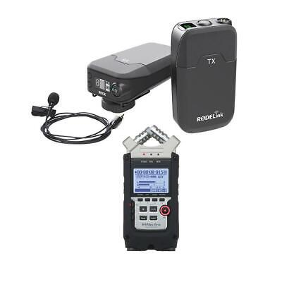Rode Microphones RODELink Digital Wireless System W/Zoom H4n Pro Handy Recorder