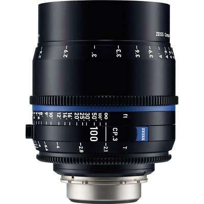Zeiss 100mm T2.1 CP.3 Compact Prime Cine Lens (Feet) CF PL Bayonet Mount