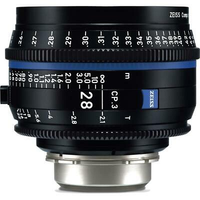 Zeiss 28mm T2.1 CP.3 Compact Prime Cine Lens (Feet) with PL Bayonet Mount