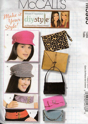 Mccall's Sewing Pattern #m5995 ~ Hats, Bags, & Belts