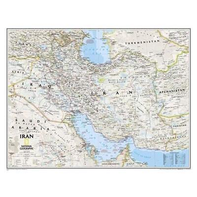 Iran Classic, tubed Wall Maps Countries & Regions - Map NEW National Geogra 2012
