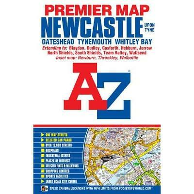 Newcastle Upon Tyne Premier Map (A-Z Road Map) - Map NEW Geographers A-Z 24-Jul-