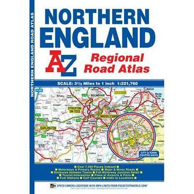 Northern England Regional Road Atlas (A-Z Regional Road - Paperback NEW Geograph