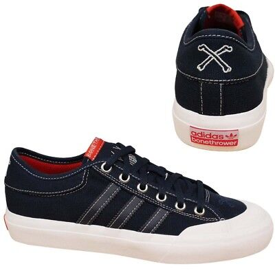 reputable site 0bbac b5e80 Adidas Matchcourt X Bonethrower Navy White Lace Up Mens Trainers CG4870 U90