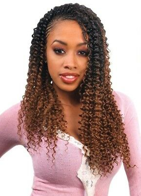 "FreeTress Water Wave 22"" Synthetic Hair Braid, 10 Packs of Braids"