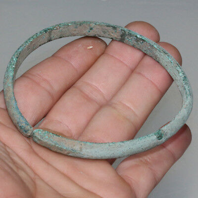 Intact Ancient Greek Late Bronze Age Bronze Bracelet Circa 1500-1000 Bc