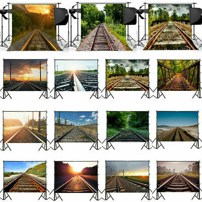 Creative Railroad Vinyl Photography Backdrop Studio Wall Photo Background Props