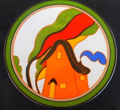 The Bizarre World of CLARICE CLIFF - Wedgwood Plate Depicting THE ORANGE HOUSE