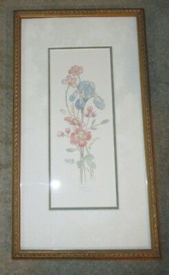 New Framed Limited Edition Print Mary Vincent Bertrand Iris Bouquet