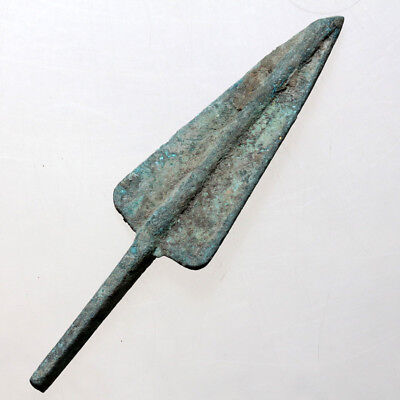 Intact Late Bronze Age Greek Bronze Long Shot Arrowhead Circa 1500-1000 BC